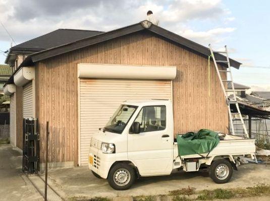 スレート 屋根 改修工事 鉄板波板 金属板金