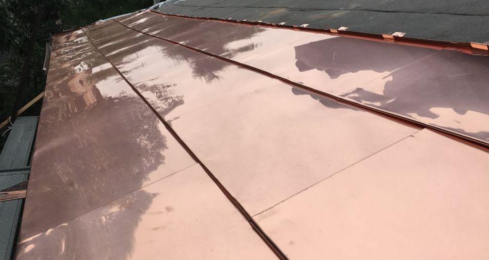 銅板 一文字葺き 屋根