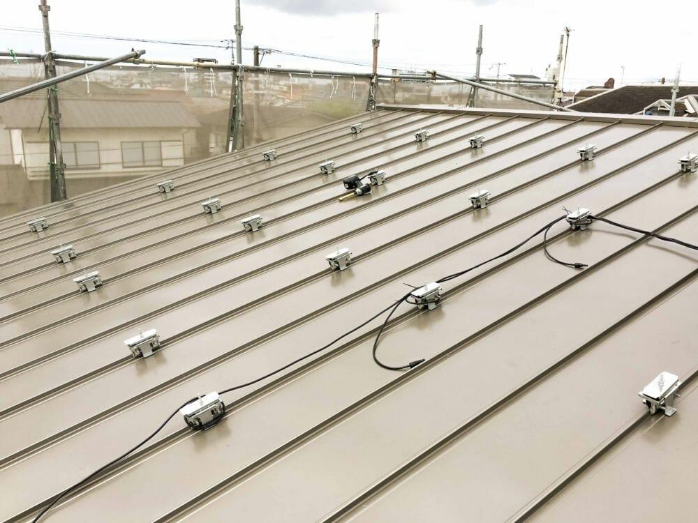 太陽光発電設置工事 加古川市 キャッチ金具