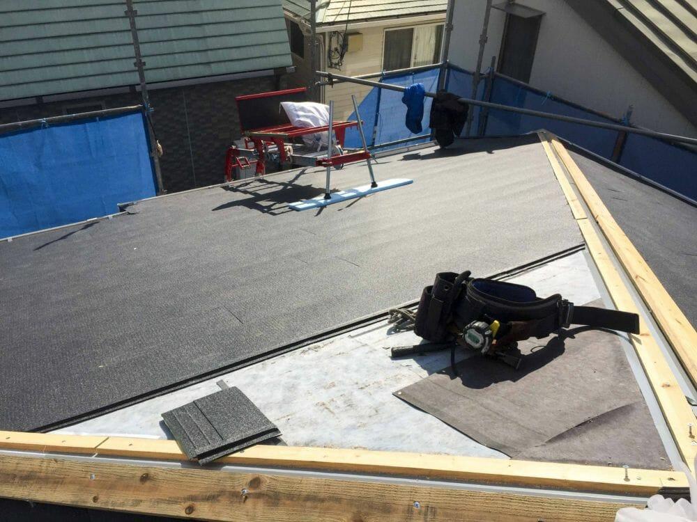 カラーベスト→横葺き 金属屋根 屋根改修工事 西宮市