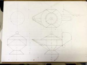 第39回 全国建築板金競技大会 技能競技の部 アラジンランプ 展開図