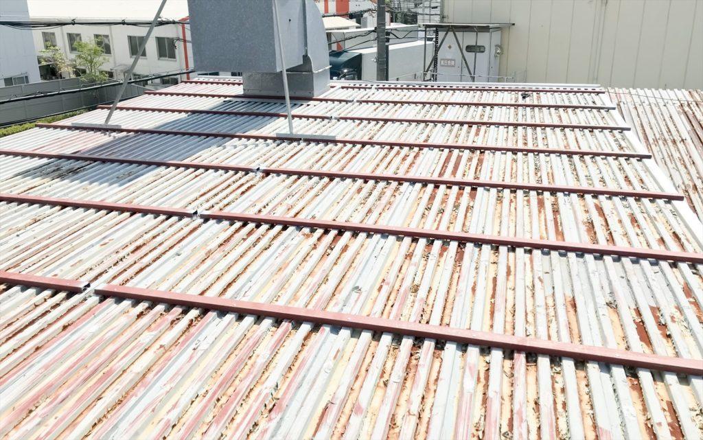 鉄板波板 鉄板大波 カバー工法 キーストンプレート02